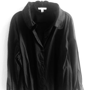 Isaac Mizrahi Black Blouse